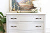 Drexel French Provincial Light Gray Highboy Dresser No 638 - ShopGoldenPineapple