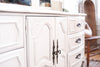 Shabby Chic Vintage French provincial Dresser / Credenza with Mirror 9 drawers 198 - ShopGoldenPineapple