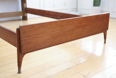 Paul McCobb Style Mid Century Modern Danish Twin Bed No 644 - ShopGoldenPineapple