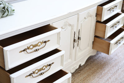 Shabby Chic French Provincial Vintage Dresser / Buffet Cabinet / Credenza No235 - ShopGoldenPineapple