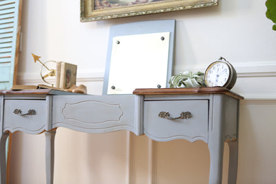 Vintage French Shabby Chic Vanity Desk / Console Table with Flip Up Mirror 244 - ShopGoldenPineapple