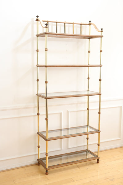 Hollywood Regency Vintage Gold Etagere Bookshelf No 649 - ShopGoldenPineapple