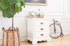 French Provincial Vintage White Single NightStand / Side Table / End Table No672 - ShopGoldenPineapple