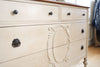 Shabby Chic Antique Dresser / Vanity Dresser with Mirror No249 - ShopGoldenPineapple