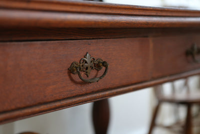 Antique Rare Beautiful Tiger Oak Study Desk / Shabby Chic Writing Desk No251 - ShopGoldenPineapple