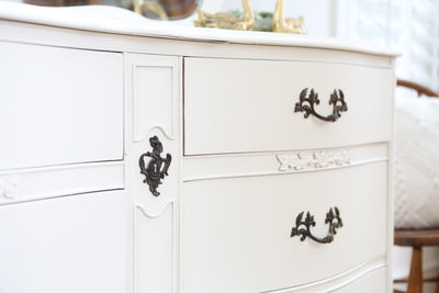 Vintage Shabby Chic Vintage Dresser / Credenza 6 drawers with Mirror No260 - ShopGoldenPineapple