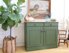 Shabby Chic Rustic FarmHouse Vintage Cabinet with wooden top No 507 - ShopGoldenPineapple