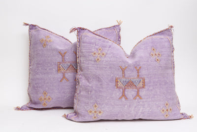 Moroccan Sabra Cactus Silk Pillow - A Pair No P407 - ShopGoldenPineapple