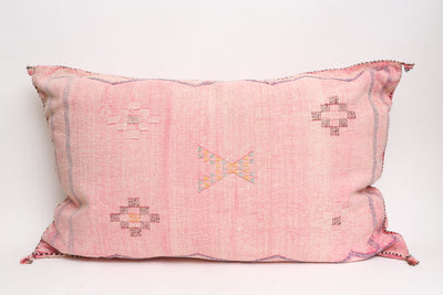 Moroccan Sabra Cactus Silk Pillow Lumbar Double Sided No LP401 - ShopGoldenPineapple