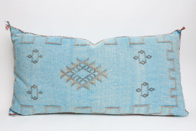 Moroccan Sabra Cactus Silk Pillow Lumbar No LP402 - ShopGoldenPineapple