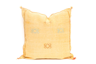 Moroccan Sabra Cactus Silk Pillow No TT101 - ShopGoldenPineapple