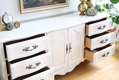Shabby Chic French Provincial Vintage Dresser / Buffet Cabinet / Credenza  with Mirror No 517 - ShopGoldenPineapple