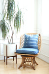 Vintage Boho Bamboo Swivel Chair No 667