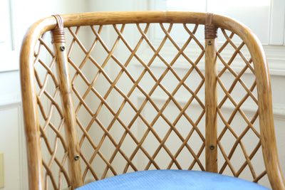 Vintage Boho Bamboo Swivel Chair No 667 - ShopGoldenPineapple