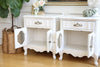 Shabby Chic Vintage White NightStands / Side Tables / End Tables Set of Two No 518 - ShopGoldenPineapple