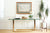 Pace Collection Glass Console/Sofa Table, Brass Base with Glass Top No 678