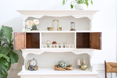 Shabby Chic Farm House Vintage Hutch / Cabinet No 525 - ShopGoldenPineapple
