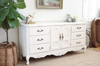 Shabby Chic French Provincial Vintage Dresser / Buffet Cabinet / Credenza No302 - ShopGoldenPineapple