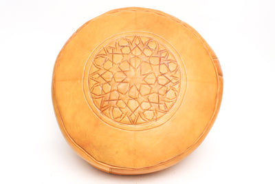 Moroccan Leather Pouf No TT110 - ShopGoldenPineapple