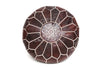 Moroccan Leather Pouf No TT111 - ShopGoldenPineapple
