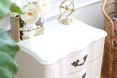 Shabby Chic Vintage White Single NightStand / Side Table / End Table No 532
