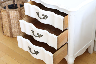 Shabby Chic Vintage White Single NightStand / Side Table / End Table No 532 - ShopGoldenPineapple