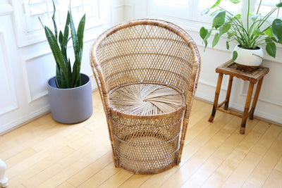 Vintage Wicker Accent Chair No 541
