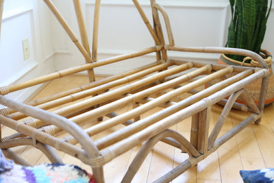 Bamboo & Rattan Loveseat No 538 - ShopGoldenPineapple