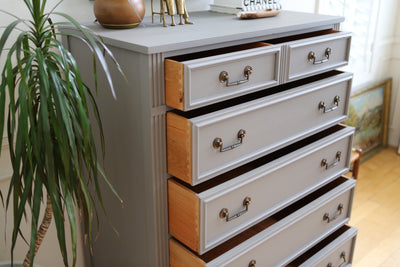 National of Mount Airy Furniture Company Mid Century Modern Highboy Dresser No 556 - ShopGoldenPineapple