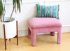Hollywood Regency Vintage Pink Velvet Vanity Stool No 563 - ShopGoldenPineapple