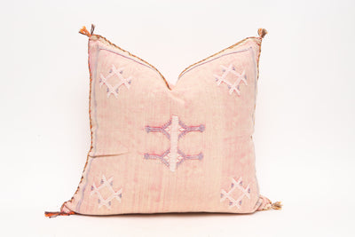Moroccan Sabra Cactus Silk Pillow No TT503 - ShopGoldenPineapple