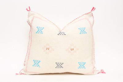 Moroccan Sabra Cactus Silk Pillow No TT504 - ShopGoldenPineapple