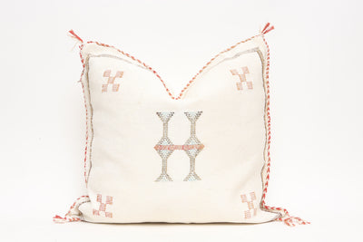 Moroccan Sabra Cactus Silk Pillow No TT505 - ShopGoldenPineapple