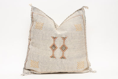 Moroccan Sabra Cactus Silk Pillow No TT511 - ShopGoldenPineapple