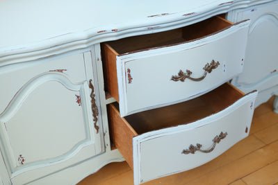 Shabby Chic French Provincial Vintage Media Stand Console Dresser No102 - ShopGoldenPineapple