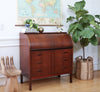 Swedish Mid Century Modern Cylinder Roll Top Desk 1960s Egon Ostergaard No327 - ShopGoldenPineapple