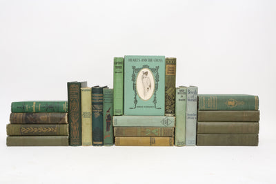 Mid Century Teal and Forest Green - Set of 20 Decorative Books - ShopGoldenPineapple