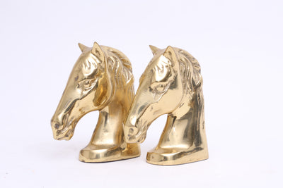 Vintage Brass Horse Bookends - A Pair No S005