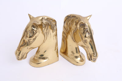Vintage Brass Horse Bookends - A Pair No S005 - ShopGoldenPineapple