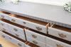 Vintage Shabby Chic Gray Dresser / Credenza with 7 drawers 92 - ShopGoldenPineapple