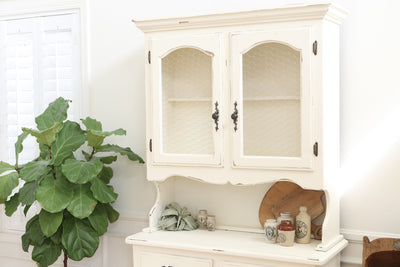Vintage Shabby Chic Farm House Hutch / Cabinet / China Hutch No97 - ShopGoldenPineapple