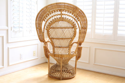 Vintage Rattan and Wicker Peacock Chair No 559 - ShopGoldenPineapple