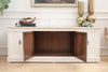 Beautiful Marble Top Vintage Media TV Stand Buffet / SideBoard Dresser No337 - ShopGoldenPineapple