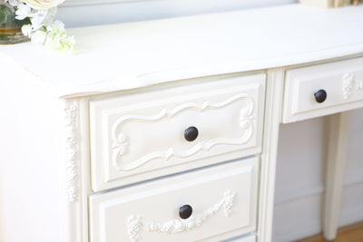 Shabby Chic French Provincial Vintage Vanity Desk / Writing Desk No66 - ShopGoldenPineapple