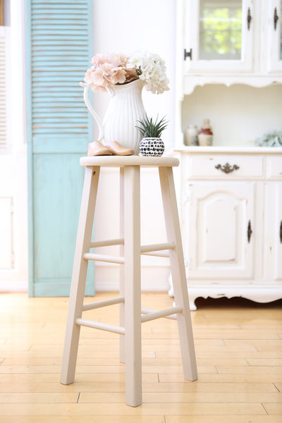 Shabby Chic Vintage Wood Stool / Chair 77 - ShopGoldenPineapple
