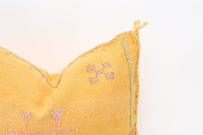 Moroccan Sabra Cactus Silk Pillow No TT520 - ShopGoldenPineapple