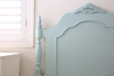 Shabby Chic French Provincial Vintage Bed Frame Twin Size No143 - ShopGoldenPineapple