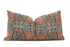 Antique Chinese Ikat wedding blanket Hand Embroidered Lumbar Pillow No TT531 - ShopGoldenPineapple