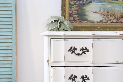 Shabby Chic French Provincial Vintage HighBoy / Tall Dresser No84 - ShopGoldenPineapple