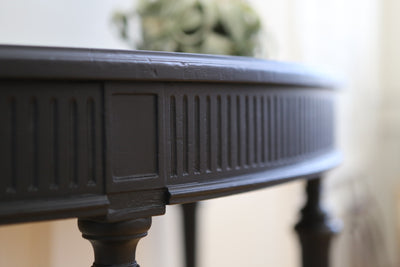 Vintage Modern Black Console Table No 570 - ShopGoldenPineapple